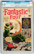 Silver Age (1956-1969):Superhero, Fantastic Four #1 (Marvel, 1961) CGC VG/FN 5.0 Cream to off-whitepages....