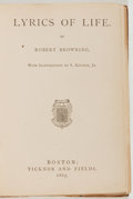 Books:Literature Pre-1900, [Fine Bindings]. Four Ticknor and Fields 1865 publications boundtogether, including: Robert Browning. Lyrics of Lif...