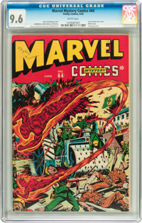 Marvel Mystery Comics #64 (Timely, 1945) CGC NM+ 9.6 White pages