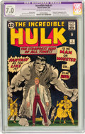 Silver Age (1956-1969):Superhero, The Incredible Hulk #1 (Marvel, 1962) CGC Apparent FN/VF 7.0 Slight (P) Off-white to white pages....