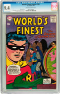 Silver Age (1956-1969):Superhero, World's Finest Comics #100 (DC, 1959) CGC NM 9.4 Off-white to white pages....