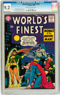 World's Finest Comics #98 (DC, 1958) CGC NM- 9.2 Off-white to white pages