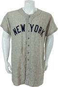 Baseball Collectibles:Uniforms, Circa 1961 New York Yankees Game Jersey....