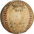 Autographs:Baseballs, 1933 New York Giants Team Signed Baseball....