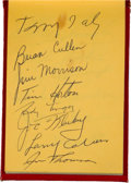 Hockey Collectibles:Others, Circa 1955 Hockey Greats Multi Signed Autograph Book - With Two Tim Horton Examples and More....
