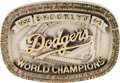 Baseball Collectibles:Others, 1955 Brooklyn Dodgers Prototype Belt Buckle by Josten's....