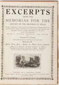 Books:Americana & American History, Father Morfi. Excerpts from the Memorias for the History of theProvince of Texas. San Antonio: Privately publis...
