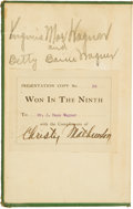 Autographs:Others, 1910 Christy Mathewson Signed Book Once Belonging to Honus Wagner, PSA/DNA Mint 9....