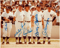 Autographs:Photos, Early 1980's New York Yankees Legends Multi-Signed Photograph....
