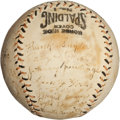 Autographs:Baseballs, 1922 New York Giants Team Signed Baseball....