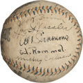 Autographs:Baseballs, 1929 Philadelphia Athletics Team Signed Baseball. ...