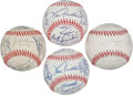 Autographs:Baseballs, 1991-2011 Chicago Cubs Team Signed Baseballs Lot Of 21. ...