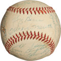 Autographs:Baseballs, 1958 New York Yankees Team Signed Baseball.. ...