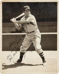 Autographs:Photos, Circa 1930 Jimmie Foxx Signed Photograph by George Burke....
