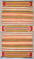 American Indian Art:Weavings, TWO NAVAJO SADDLE BLANKETS... (Total: 2 Items)