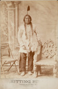 "American Indian Art:Photographs, D.F. BARRY CABINET CARDS OF SITTING BULL and RAIN IN THE FACETOGETHER WITH ""D.F. BARRY'S CATALOGUE OF NOTED INDIAN CHIEFS""...(Total: 3 Items)"