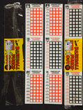 Baseball Cards:Singles (1960-1969), 1967 Topps Test Baseball Punch Outs Opened Packs Pair (2). ...