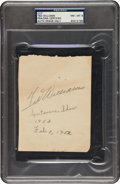 Football Collectibles:Others, 1952 Jim Thorpe & Ted Williams Signed Album Page....