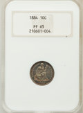 Proof Seated Dimes, 1884 10C PR65 NGC....