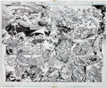 Original Comic Art:Panel Pages, George Perez and Scott Koblish Wonder Woman #600 Double-Page Spread Pages 2 and 3 Original Art (DC, 1988)....