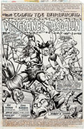 Original Comic Art:Splash Pages, John Buscema and Ernie Chan Conan the Barbarian #72 SplashPage 1 Original Art (Marvel, 1977)....