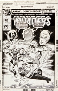 Original Comic Art:Covers, Alan Kupperberg and Joe Sinnott The Invaders #36 CoverOriginal Art (Marvel, 1979)....