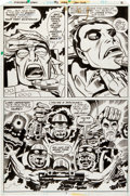 Original Comic Art:Panel Pages, Jack Kirby and Mike Royer Machine Man #2 Page 2 Original Art(Marvel, 1978)....