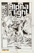 Original Comic Art:Covers, John Byrne Alpha Flight #27 Cover Original Art (Marvel,1985)....