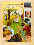 Original Comic Art:Covers, Pat Ryan Yellow Dog Unused Painted Cover Original Art (PrintMint, c. 1975)....