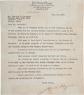 Autographs:Letters, 1933 John Heydler Signed Letter of Invitation to Gabby Hartnett forFirst All-Star Game....