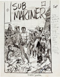Original Comic Art:Miscellaneous, Marie Severin Sub-Mariner #33 Cover Preliminary Original Art(Marvel, 1971)....