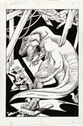 Original Comic Art:Covers, Gil Kane and George Perez Jurassic Park #4 Cover OriginalArt (Topps Comics, 1993)....