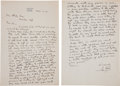 Autographs:Letters, 1940 Ty Cobb Handwritten Letter of Advice on Topic of Hitting....