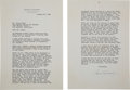 """Autographs:Letters, 1942 Samuel Goldwyn Signed Letter re: """"The Pride of theYankees.""""..."""