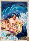 Original Comic Art:Covers, Tarzan #306 Deadly Diamond Mine Painted CoverOriginal Art (c. 1970s)....