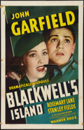 """Movie Posters:Crime, Blackwell's Island (Warner Brothers, 1939). One Sheet (27"""" X 41"""").Crime.. ..."""