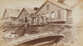 "American Indian Art:Photographs, FOUR EDWARD DE GROFF BOUDOIR PHOTOGRAPHS: ""SCENE IN INDIAN TOWN, SITKA, ALASKA,"" ""INDIAN GRAVE AND CREMATION GROUND, JEAUNA (s... (Total: 4 Items)"