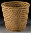American Indian Art:Baskets, A PIMA COILED BASKET. c. 1910...