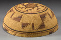 American Indian Art:Baskets, A HUPA TWINED MAIDEN'S CAP...