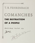 Books:Americana & American History, T. R. Fehrenbach. SIGNED. Comanches: The Destruction of aPeople. New York: Alfred A. Knopf, 1974. First edition. ...