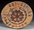 American Indian Art:Baskets, A NAVAJO PICTORIAL POLYCHROME TRAY. c. 2000...