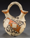 American Indian Art:Pottery, AN ACOMA POLYCHROME WEDDING VASE...