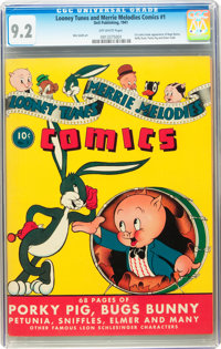 Looney Tunes and Merrie Melodies Comics #1 (Dell, 1941) CGC NM- 9.2 Off-white pages