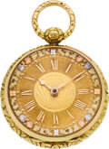 Timepieces:Pocket (pre 1900) , George Graham London Gold Cylinder Fusee, No. 6561, circa 1740. ...