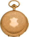 Timepieces:Pocket (post 1900), Monard Swiss 14k Gold Minute Repeater, circa 1905. ...