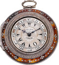 Timepieces:Pocket (pre 1900) , George Charle London Silver & Tortoise Triple Cased TurkishMarket Verge, circa 1820. ...