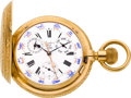 Timepieces:Pocket (pre 1900) , Henri Grandjean Unusual Massive 18k Gold Calendar With ZodiacSymbols, circa 1880. ...