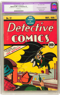 Detective Comics #27 (DC, 1939) CGC Apparent NM- 9.2 Extensive (P) Off-white pages