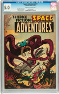 Golden Age (1938-1955):Science Fiction, Space Adventures #11 (Charlton, 1954) CGC VG/FN 5.0 Cream tooff-white pages....