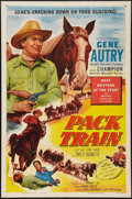 """Movie Posters:Western, Pack Train (Columbia, 1953). One Sheet (27"""" X 41""""). Western.. ..."""
